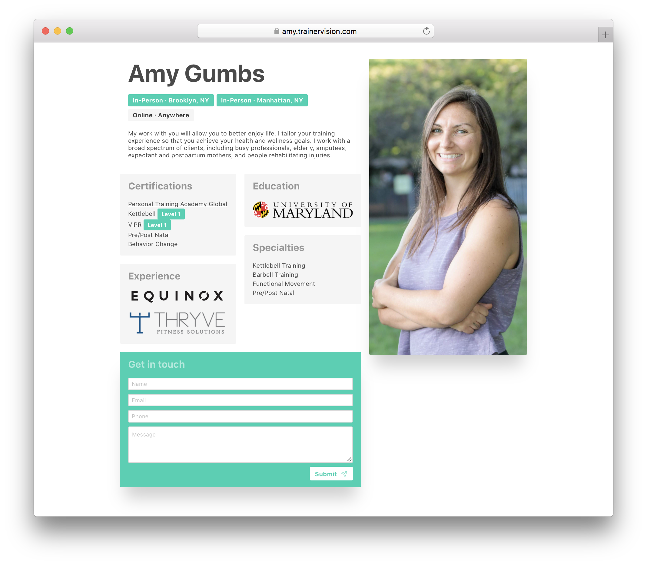 Amy's site